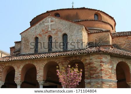 church of Santa Fosca on Torcello island, Italy - stock photo