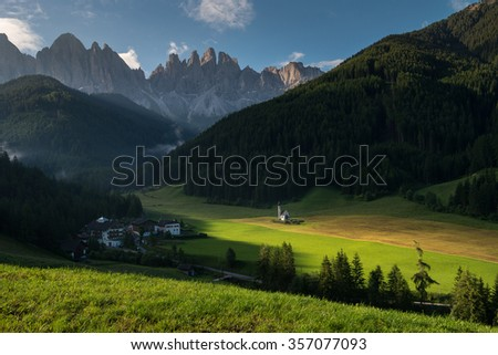 Church of Santa Maddalena in Val di Funes, Dolomites