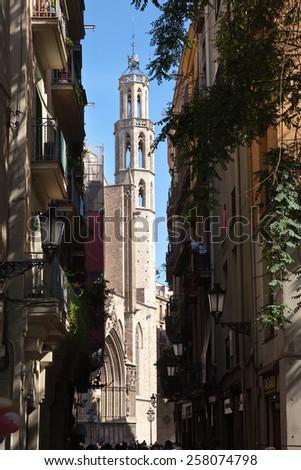 Church of Santa Maria del Mar, Barcelona (Spain) - stock photo