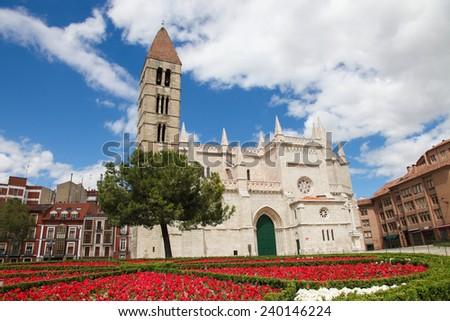 Church of Santa Maria La Antigua (12th-century) in Valladolid, Castile and Leon, Spain. - stock photo
