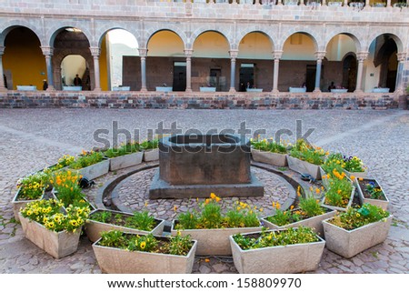 "Church of Santo Domingo, Coricancha,Cusco, Peru,South America. Build on ruins of  Incan Temple of the Sun.The ""Santo Domingo"" - stock photo"