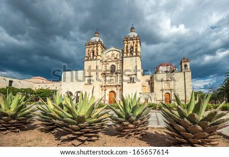 Church of Santo Domingo de Guzman in Oaxaca, Mexico - stock photo