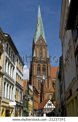 church of schwerin in northern germany