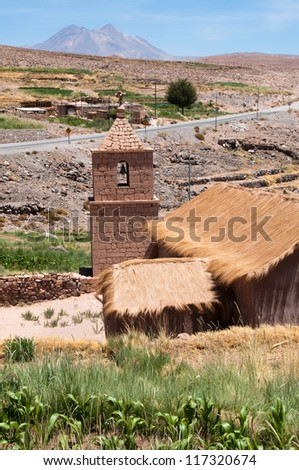 Church of Socaire, Atacama desert (Chile) - stock photo