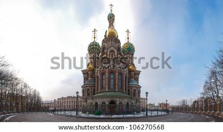 "Church of Spilled blood ,Saint Petersburg, Russia, Orthodox Church ""Spas na Krovi"" - stock photo"