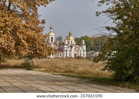 Church of St. Andrew in Kerch - stock photo