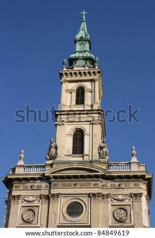 Church of St Anne in Budapest, Hungary
