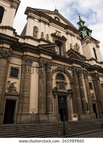 Church of St. Anne in the historic centre of Krak�³w, Poland - stock photo