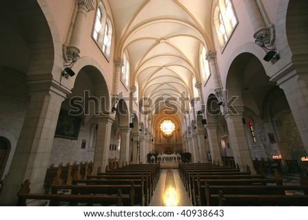 Church of St. Catherine, Bethlehem - stock photo