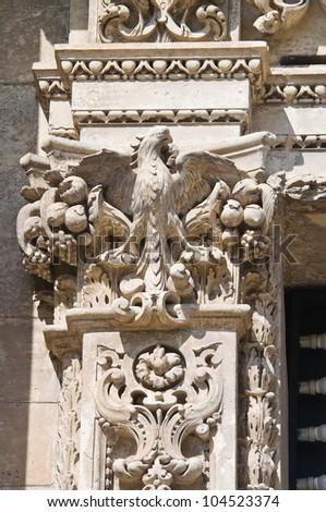 Church of St. Chiara. Lecce. Puglia. Italy. - stock photo