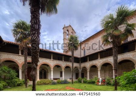 Church of St. Francis in Pula, Croatia. - stock photo
