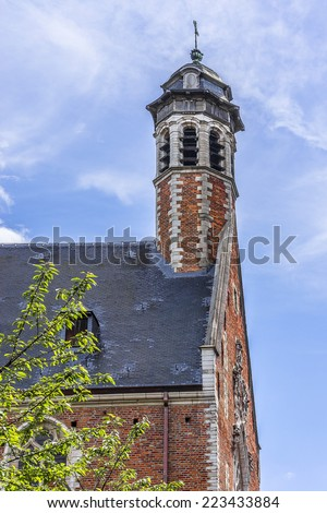 Church of St. Mary Magdalene (Chapelle de la Madeleine) - one of the oldest churches in Brussels, Belgium. Church of St. Mary Magdalene having been established by the Brothers of Mercy in 13th century - stock photo