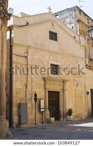 Church of St. Sebastiano. Lecce. Puglia. Italy.