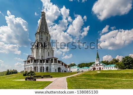 Church of the Ascension in Kolomenskoye, Moscow, Russia - stock photo