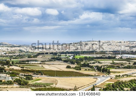 Church of the Assumption of Our Lady, known as the Rotunda of Mosta or Rotunda of St Marija Assunta or simply The Mosta Dome, Malta - stock photo