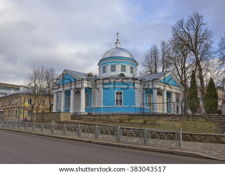 Church of the Assumption of the Blessed Virgin is sample provincial classicism in Pskov architecture, Russia