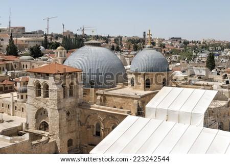 Church of the Holy Sepulchre - Jerusalem Old City - stock photo