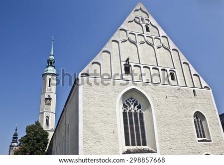 Church of the Holy Trinity, Dreifaltigkeitskirche, in G�¶rlitz / Goerlitz; germany - stock photo