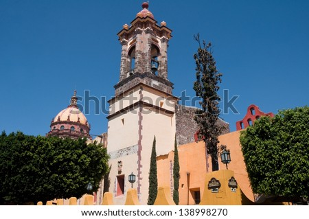 Church of the Immaculate Conception, San Miguel de Allende (Mex) - stock photo