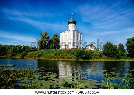 Church of the Intercession on the Nerl near the village Bogolyubovo, Russia