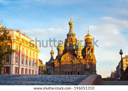 Church of the Resurrection of Christ (Saviour on Spilled Blood), St. Petersburg, Russia - stock photo