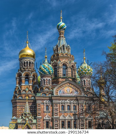 Church of the Savior on Blood, Saint Petersburg, Russia - stock photo