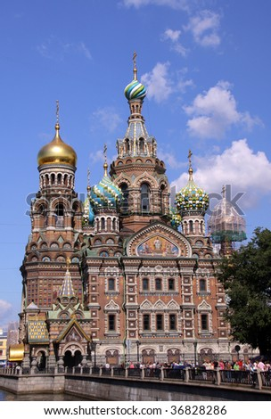 Church of the Savior on Blood - very famous landmark in Saint Petersburg, Russia, Europe