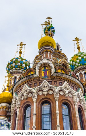 Church of the Savior on Spilled Blood (Church on Spilt Blood and the Cathedral of the Resurrection of Christ) is one of the main sights of Saint Petersburg, Russia