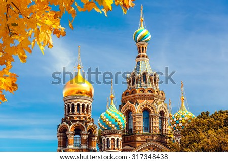 Church of the Savior on Spilled Blood in St. Petersburg, Russia - stock photo