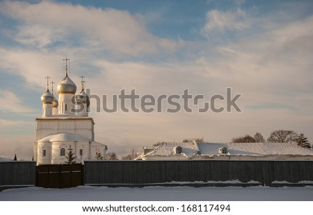 Church of the Transfiguration (the Savior on the sands) in Rostov Veliky winter