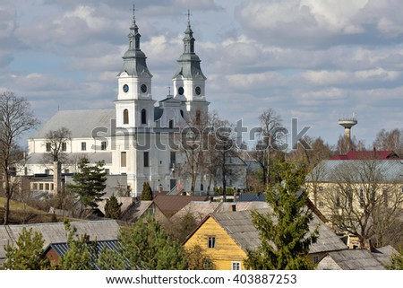 Church of Zemaiciu Kalvarija. Zemaiciu Kalvarija is a small town in Plunge district municipality, Lithuania. It is known as a major site for Catholic pilgrimage.