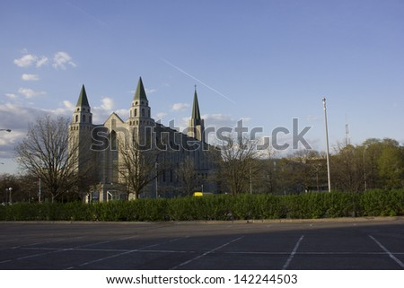 Church on Laval University campus in Quebec city