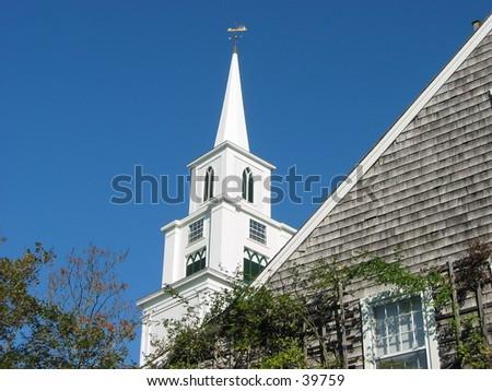 church on nantucket island II - stock photo