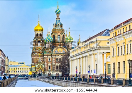 Church on Spilled Blood. Saint-Petersburg. Russia - stock photo