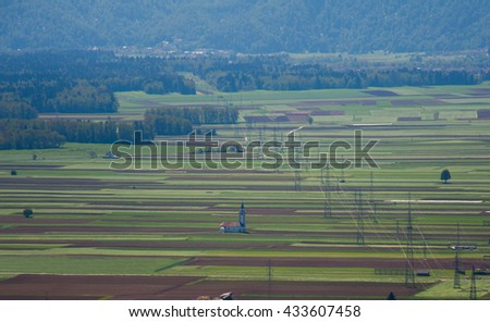 Church on the fields of Slovenia