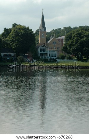 Church Reflected in Water