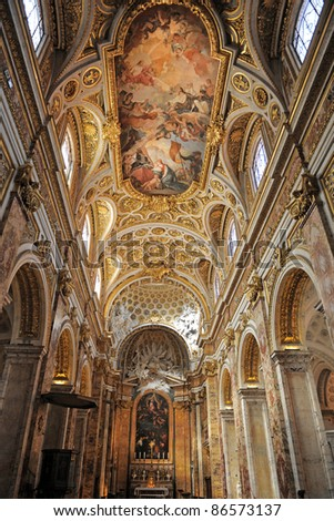 church Saint Louis of the French, Rome, Italy - stock photo