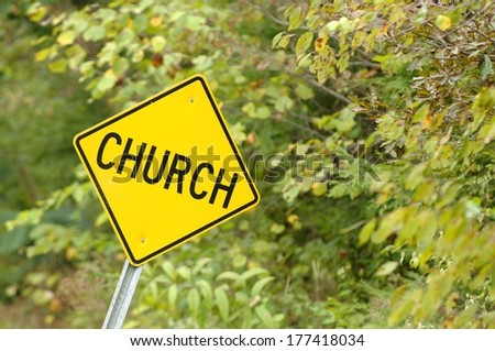 Church Sign On Side Of Road