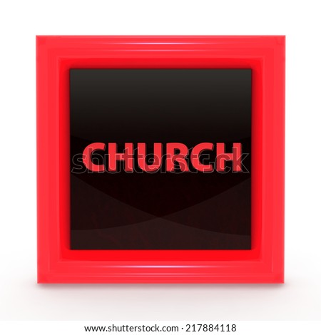 Church square icon on white background