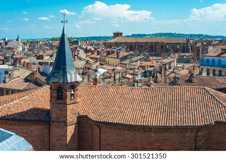 Church St. Jerome, built in the seventeenth century by architect Pierre Levesville in Toulouse, Haute-Garonne, Midi Pyrenees, France. - stock photo