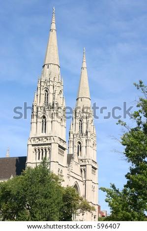 Church steeple. - stock photo