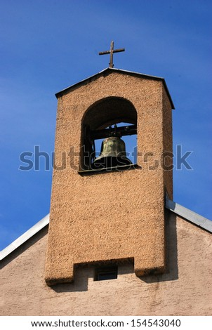 Church steeple A church steeple with a bell in Vienna.  - stock photo