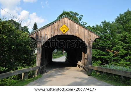 Church Street covered bridge in Waterville, Vermont