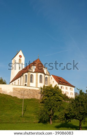 Church Switzerland in the little village Herznach