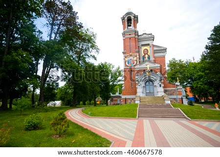 Church-tomb princes Svyatopolk-Mirsky in Mir, Belarus