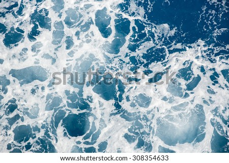 Churning water in the sea