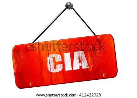 cia, 3D rendering, vintage old red sign - stock photo