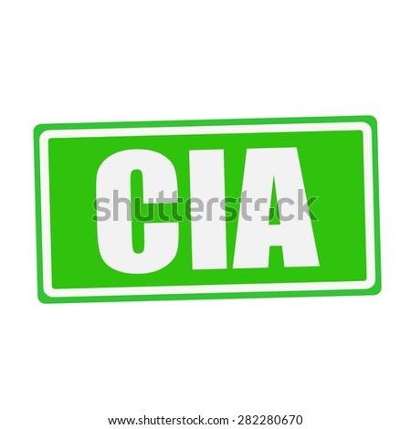 CIA white stamp text on green - stock photo