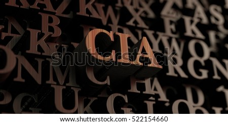 Cia - Wooden 3D rendered letters/message.  Can be used for an online banner ad or a print postcard.