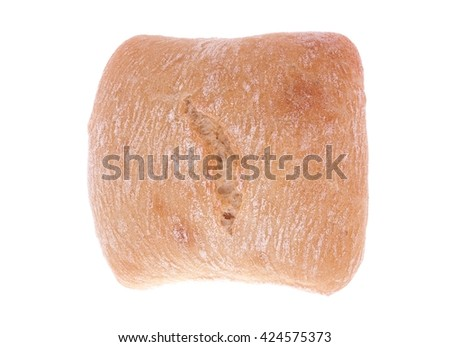 Ciabatta bread isolated on white background